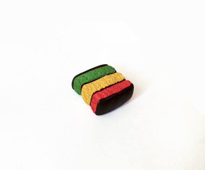 Rainbow Cookie Magnet - Food Magnet - Dessert Magnet - Fridge Magnet - Polymer