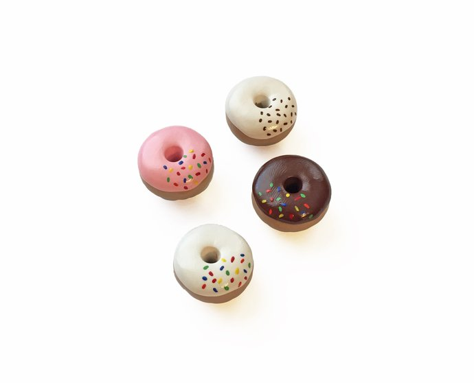 Donut Magnets - Donut Gift - Fridge Magnets - Donut Party Favor - Refrigerator
