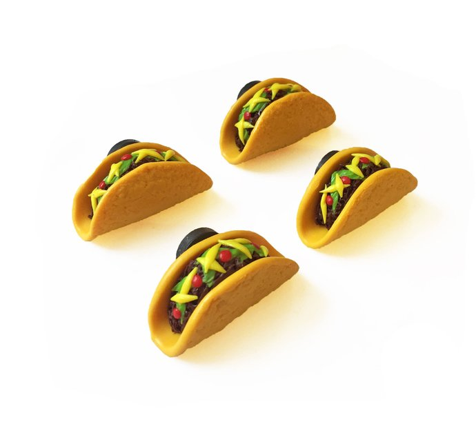 Taco Magnets - Fridge Magnet - Food Magnet - Mexican Food Magnet - Taco Gift -