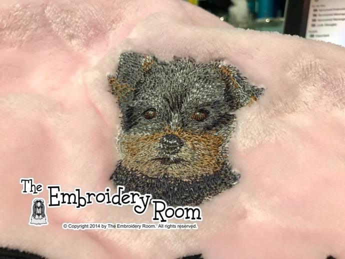 Yorkie Puppy- Dog Blanket
