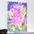 Pink Panicle Flower Study, original watercolor painting, 6 x 9 inches