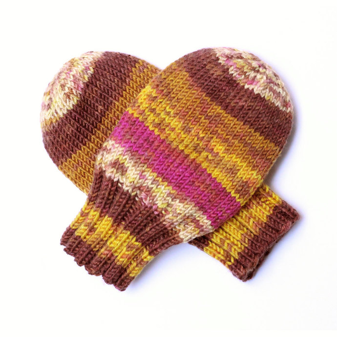 Hand Knit Baby Mittens