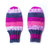 Wool-Free Purple Pink Baby Mittens on Cord. Hand Knit Thumbless Cordless Baby