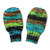 Wool-Free Baby Mittens on String. Knit Thumbless Cordless Baby Mitts. Black Teal