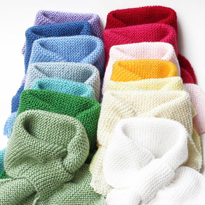 Made to Order Kids Knit Scarf. Custom Pull Thru Keyhole Muffler.