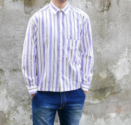 Cotton Men white shirt size Small with stripes brand RIFLE OOAK