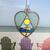 Stained Glass Beach Suncatcher, Handmade Gift, Stained Glass Heart, Stained