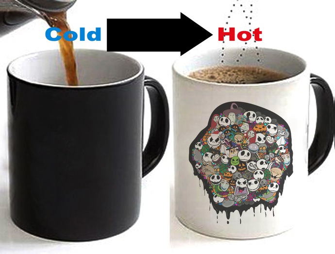 Nightmare Before Christmas Coffee Mug.Nightmare Before Christmas Color Changing Ceramic Coffee Mug Cup 11oz
