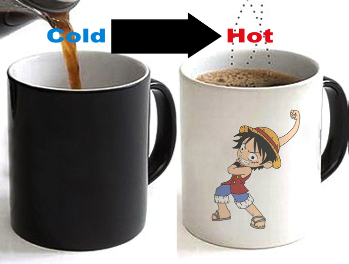 One Piece Luffy Color Changing Ceramic Coffee Mug CUP 11oz