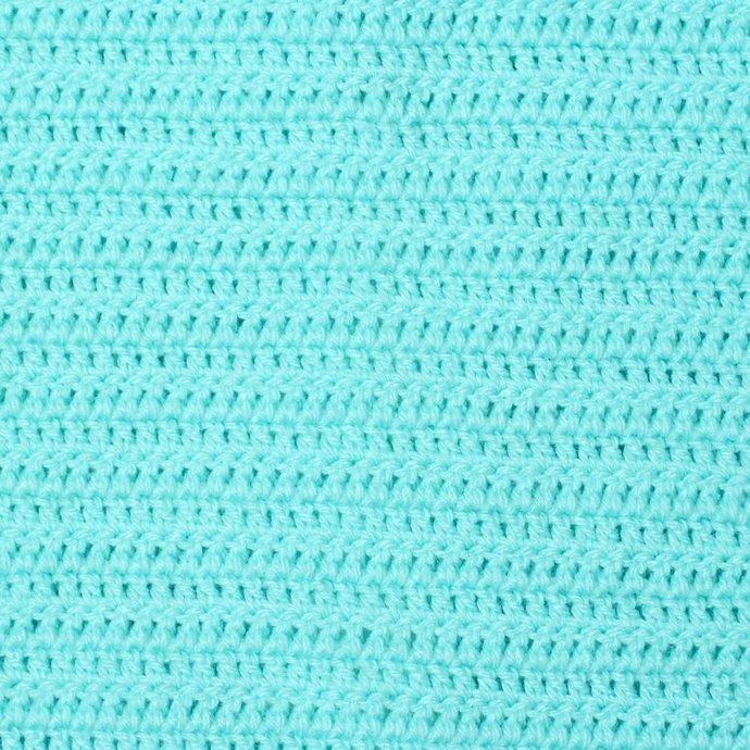 Aqua Baby Snuggie. Crochet Car Seat Travel Blanket With Arms. Wearable Aqua Baby