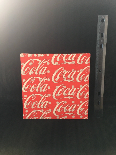 Vintage Fabric Coca Cola Wall Art by Lady Llew Creations on Zibbet
