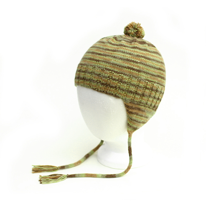 Camo Earflap Hat and Mitten Set. Gender Neutral. Vegan Camouflage Aviator Hat.
