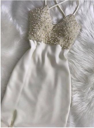 Elegant Mermaid Spaghetti Straps Homecoming Dresses,Short Prom Dresses,Cheap