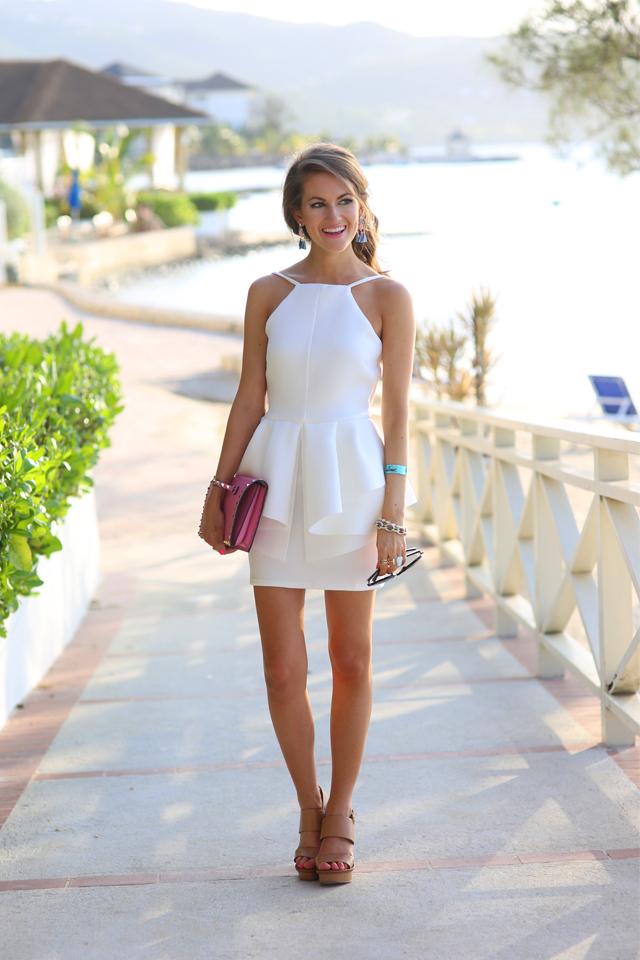 Spaghetti Strap Short White Vacation Prom Dresses