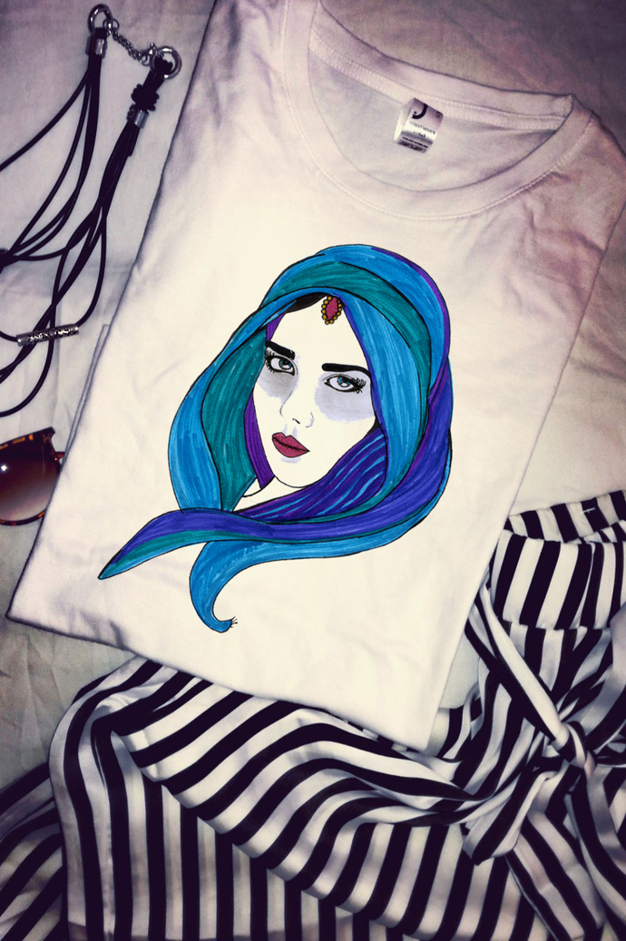 Arabic Woman, Arabian Beauty, Woman T Shirt Tee, High Quality Cotton,