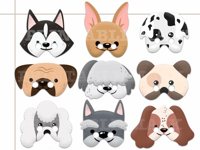 photo relating to Printable Photo Booth Props Birthday identify Distinctive Canine Printable Masks, costumes, paper masks, puppies bash, image booth props, birthday, get together favors, little ones costume up engage in, canine mask
