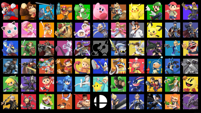 "Super Smash Bros Ultimate  Polyester Fabric Poster (13""x19"" or 18""x28"")"