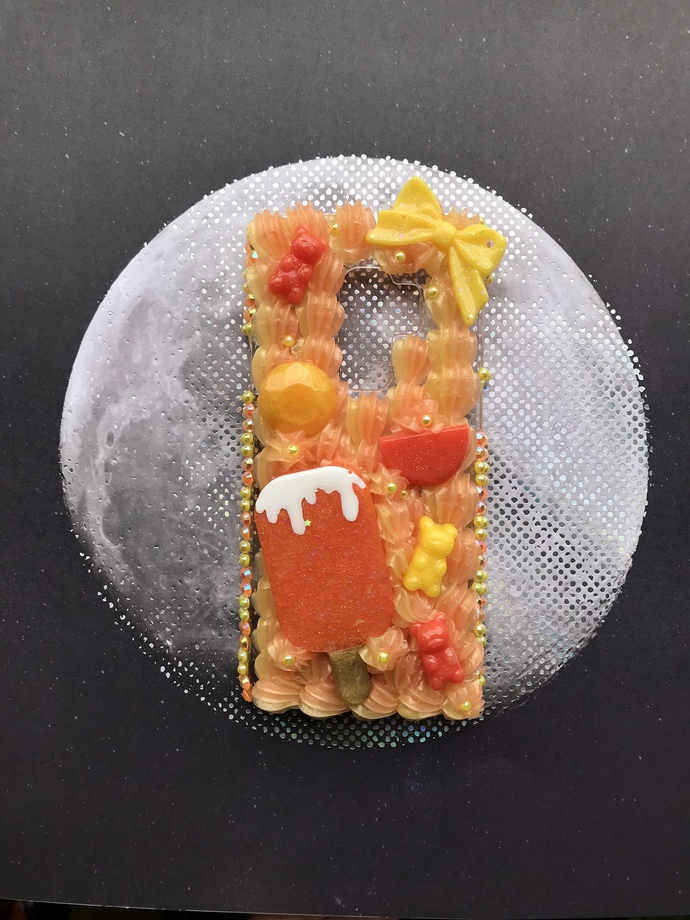 Samsung Galaxy S9 Plus Creamy Orange Dream Decoden Phone Case