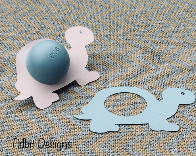 Set of 6 Baby Turtle eos Lip Balm Holders - Favors / Showers / Gifts