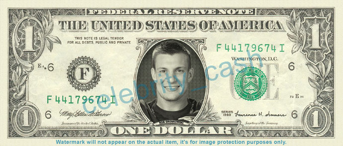 ROB GRONKOWSKI on a REAL Dollar Bill NFL Football Cash Money Collectible