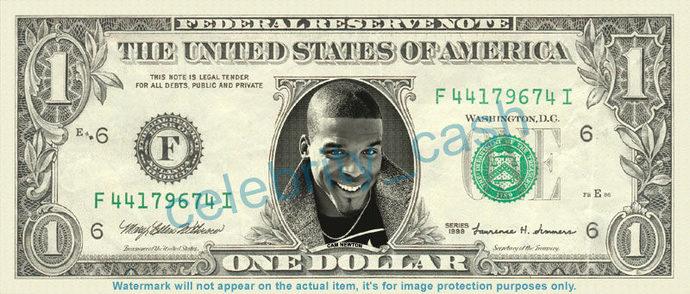 CAM NEWTON on a REAL Dollar Bill NFL Football Cash Money Collectible Memorabilia