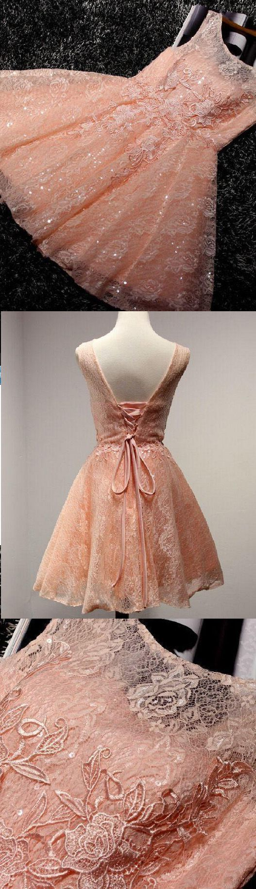 Bling Orange Lace Homecoming Dress,Simple Homecoming Dresses,Cheap Prom