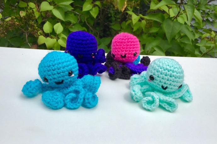 READY TO SHIP Octopus Amigurumi Crochet Plush