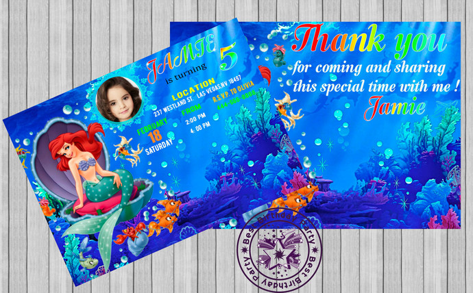 Little mermaid invitation little by bestbirthdayparty on zibbet little mermaid invitation little mermaid birthday invitation little mermaid filmwisefo