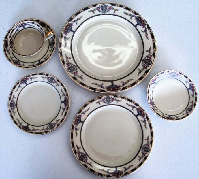 Tirschenreuth The Chatham 73 Piece Dinnerware Set & Tirschenreuth The Chatham 73 Piece by Eclectic Mecca on Zibbet