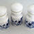 Belgium Milk Glass Victorian Apothecary Bottle Jar With Stopper Lid Set of 3