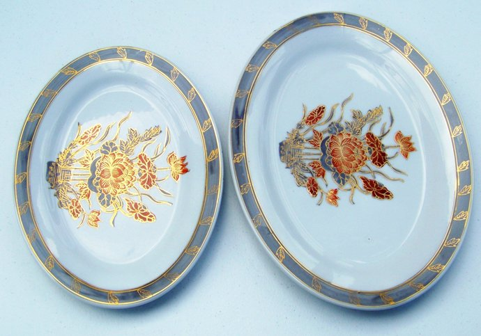 ACF Japanese Porcelain Ware Set Of 2 Platters