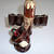 Japan Catus Decanter Guy With Sombrero & 4 Hanging Shot Cups
