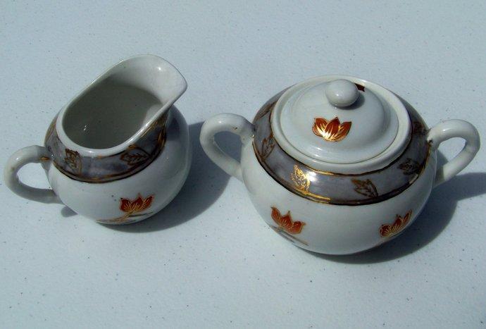 ACF Japanese Porcelain Ware Cream & Sugar Bowl