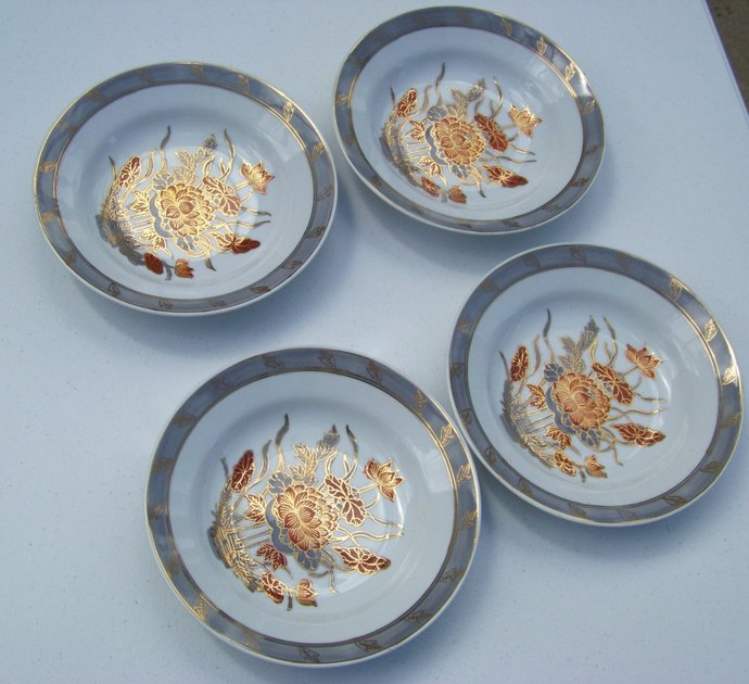 ACF Japanese Porcelain Ware 4 Pasta Bowls