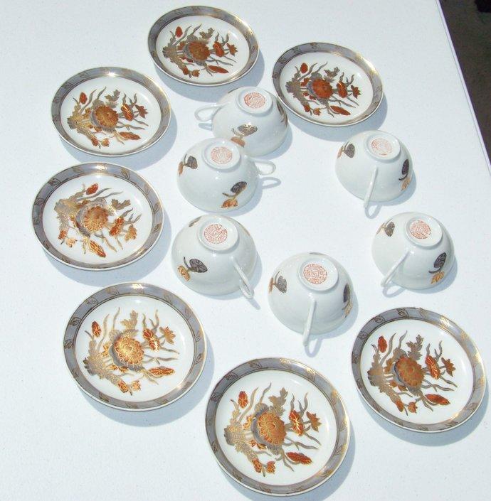 ACF Japanese Porcelain Ware 6 Cup & Saucer Sets