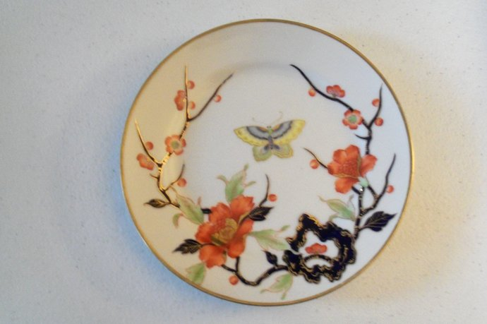 Noritake Nippon Hand Painted Made In Japan Butterfly Design Plate
