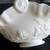 Westmoreland Milkglass Handled Basket Rose & Trellis Milk Glass