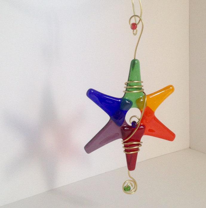 lgbt decoration rainbow star glass star ornament gay pride rainbow - Gay Pride Christmas Decorations
