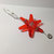 Glass Star Ornament / Tangerine Orange / Gift Basket Decoration / Gay Decor /