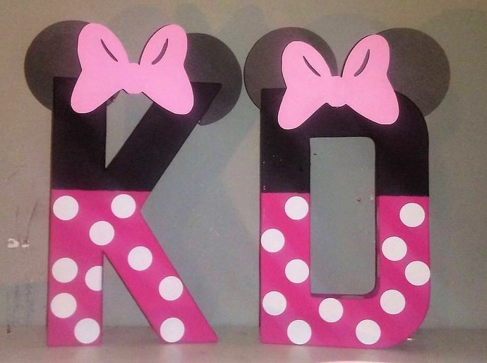 Minnie Mouse Letters Birthday Decorations Photo Props