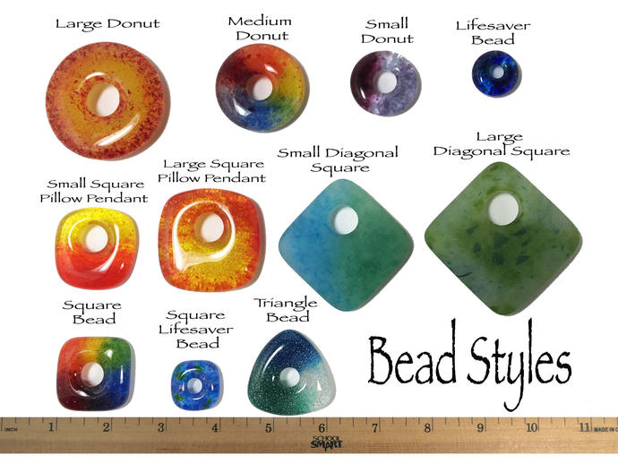 Rainbow Donut Beads, Set of 5 , Rainbow Focal Bead, LGBT Jewelry, Handmade, Gay
