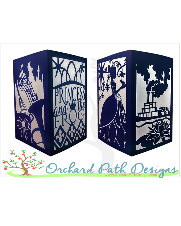 Princess and the Frog themed paper lantern for Disney or fairy tale themed