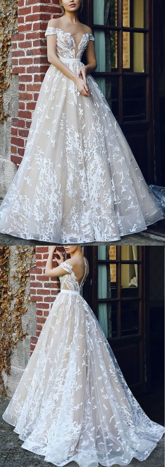 Discount Sleeveless Dresses Long Ivory Wedding Dresses With Applique Zipper