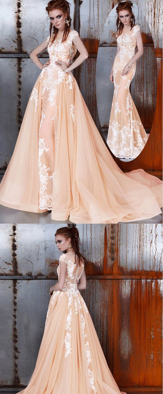 Chic Tulle Illusion High Collar See-through 2 by prom dresses on