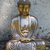 Classic Style Buddha in meditation pose. Bronze coated reconstituted marble.