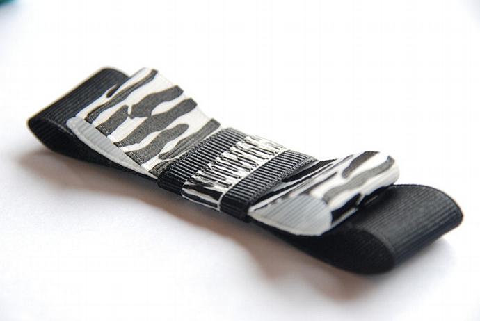 PINK SUGAR SHOPPE- Black and Zebra Tuxedo Bow