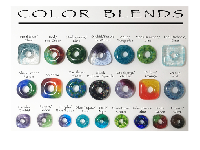 DIY Jewelry, Handmade RAINBOW Beads, Jewelry Supplies, Fused Glass Beads - Set