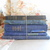 Antique Blue Book Bundle. Shabby Chic Vintage Book Stack of French Books