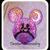 Mickey head silhouette Mickey and Minnie. Digital applique file 4x4 5x7 7x7