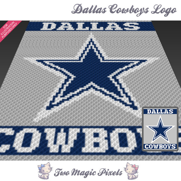 Dallas Cowboys Logo crochet blanket by TwoMagicPixels on ...
